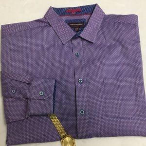 Johnston & Murphy Men's Dress Shirt Long Sleeve